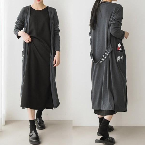 908 캐릭터 포켓 가디건 빅사이즈 미시 여성 큰옷 의류