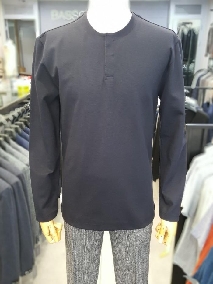 [바쏘옴므] 19F/W다크네이비 헨리넥 티셔츠 WST3KR02ADN