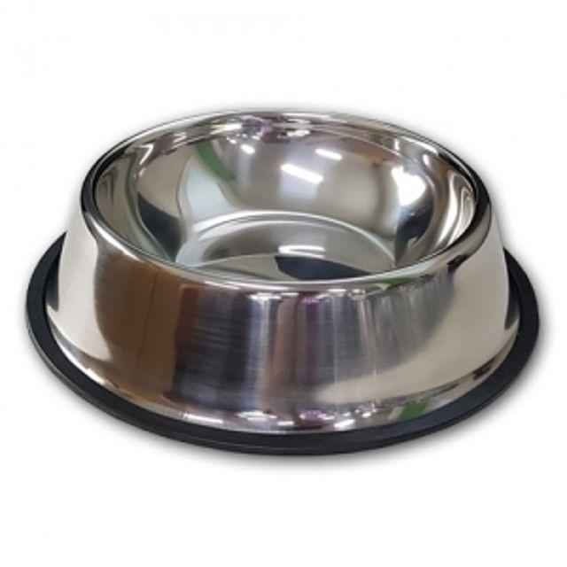 강아지 개밥 그릇 스텐식기 3호_22cm (220mm x 52mm)