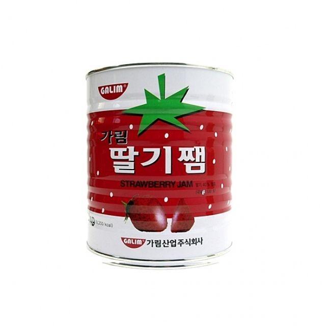 가공식품 통조림 딸기잼 3kg 6ea 1BOX 과일쨈가림