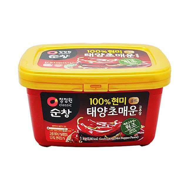 청정원 순창 태양초 매운 고추장 1kg.