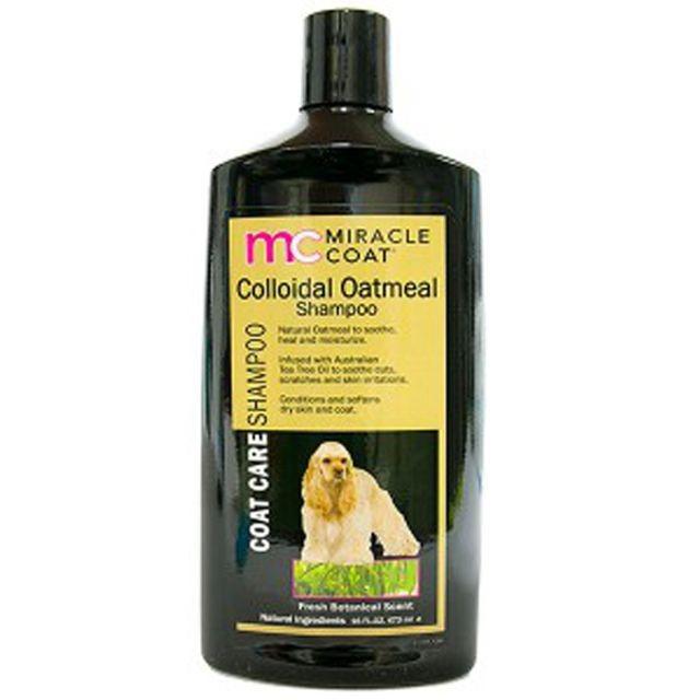 미라클코트 오트밀 샴푸 473ml 애완용품