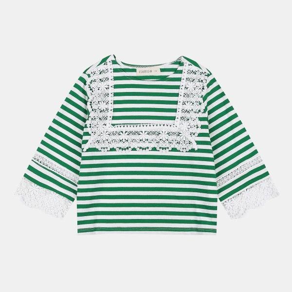 일로딜로 NC08 레이스 스트라이프 티셔츠 IDLA19855