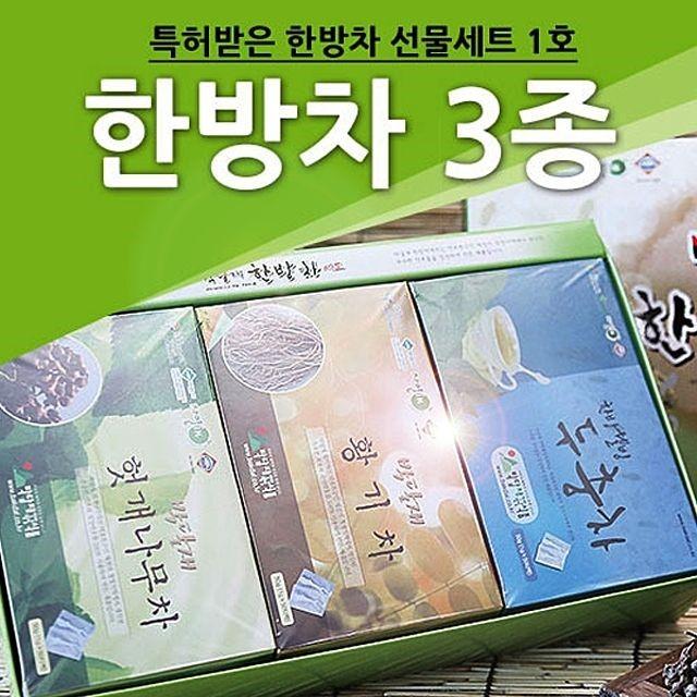 박달재 한방차 3종세트 3박스(3x50봉)