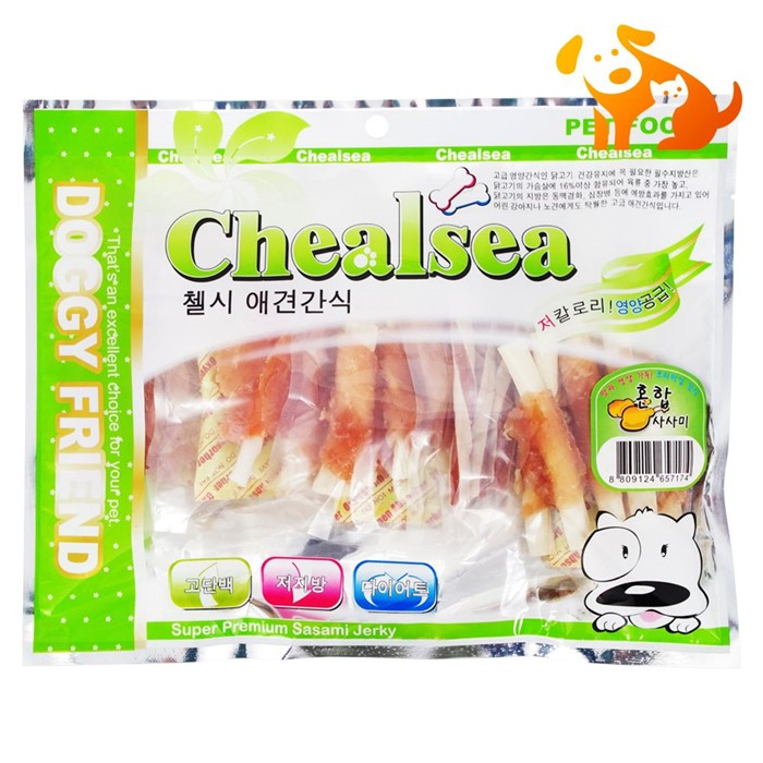 첼시 애견 닭고기 혼합 사사미 400g