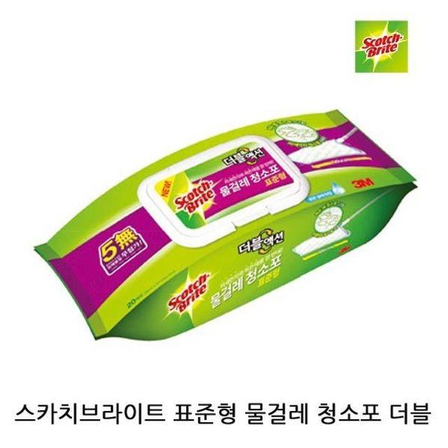 스카치브라이트 표준형 물걸레 청소포 더블액션 1P
