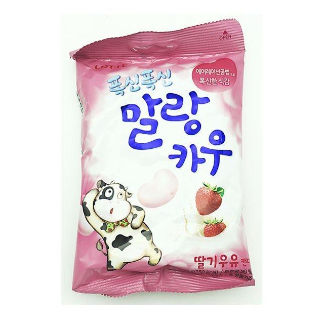 말랑카우딸기 X 10봉 기획세트 츄잉캔디 간편간식