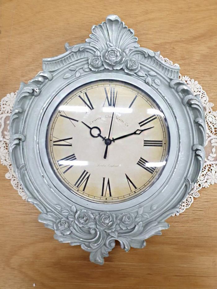 [꼬떼따블] 프렌치 로즈 프레임 시계(2color)