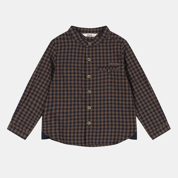 치크 NC08 고방체크 헨리넥 셔츠(B) CKYA19802