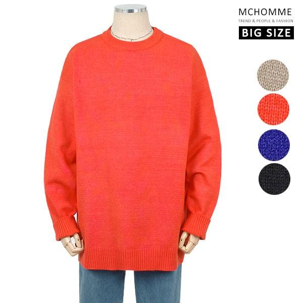 엠씨옴므 빅사이즈(~4XL) 간절기 포근하고 따뜻한 댄디룩 니트 티셔츠  SH19S115_O