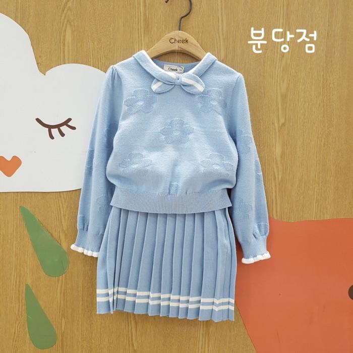 치크 NC02 *리본카라 스웨터세트 CKSV19W51