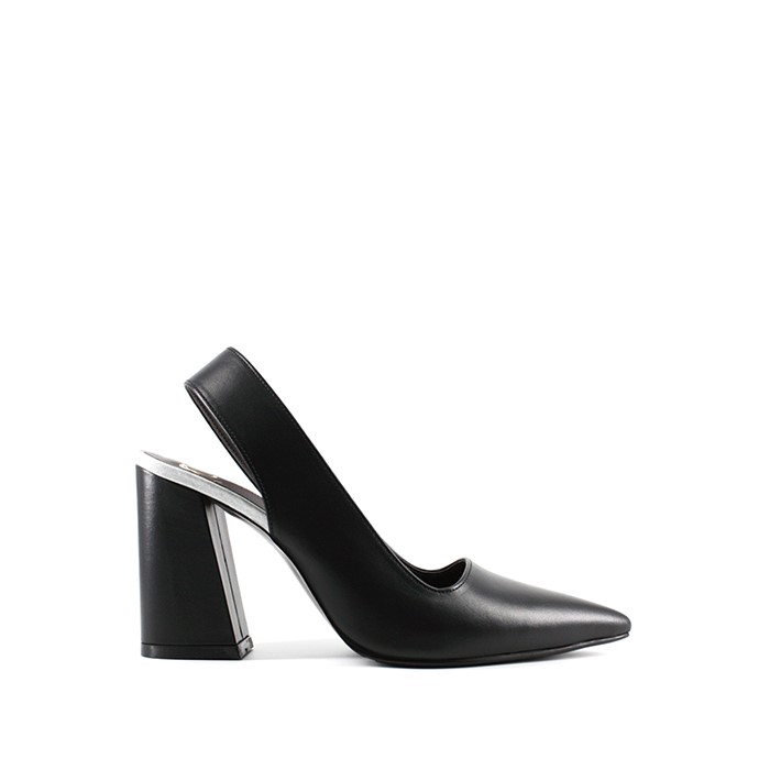 [오바이혜연킴] Thick slingback [Black]