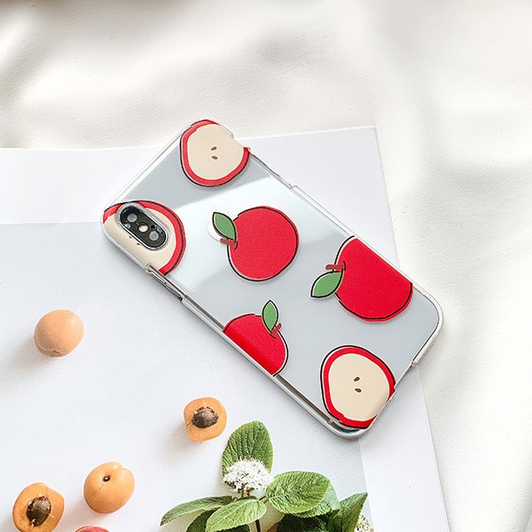 레드 애플 드로잉 아이폰 케이스