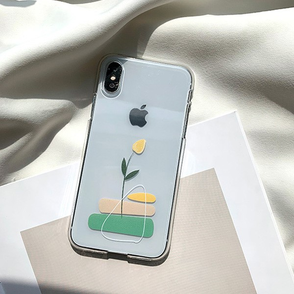 노랑 튤립 아이폰 케이스