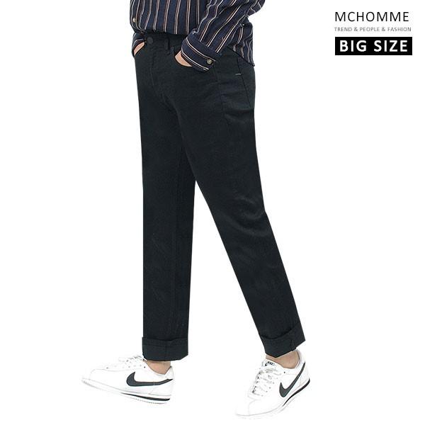 엠씨옴므 빅사이즈(~40 size) 리파인드 블랙진 레귤러핏 청바지 데님 팬츠 DK19S110_B