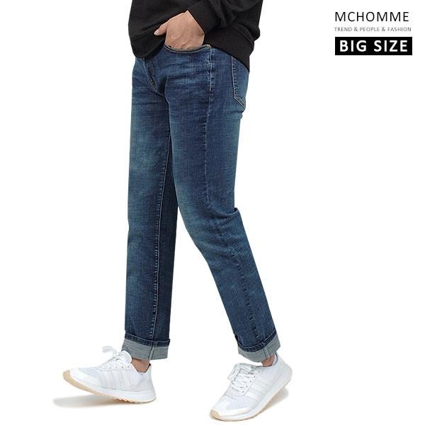 엠씨옴므 빅사이즈(~40 size) 베이직 블루진 일자핏 청바지 데님 팬츠 DK19S107_BL