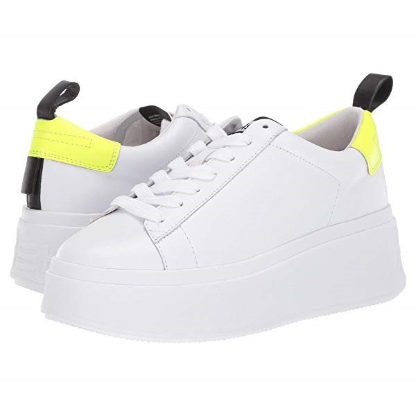 아쉬 여성 스니커즈 /Z/ Moon - White/Fluo Yellow/Black