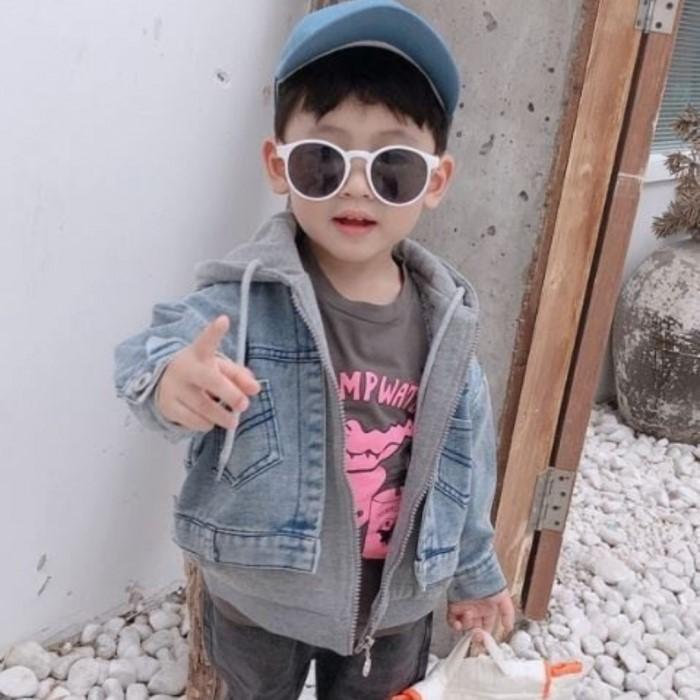 아롱별 [A-long star]  이중 후드 청자켓