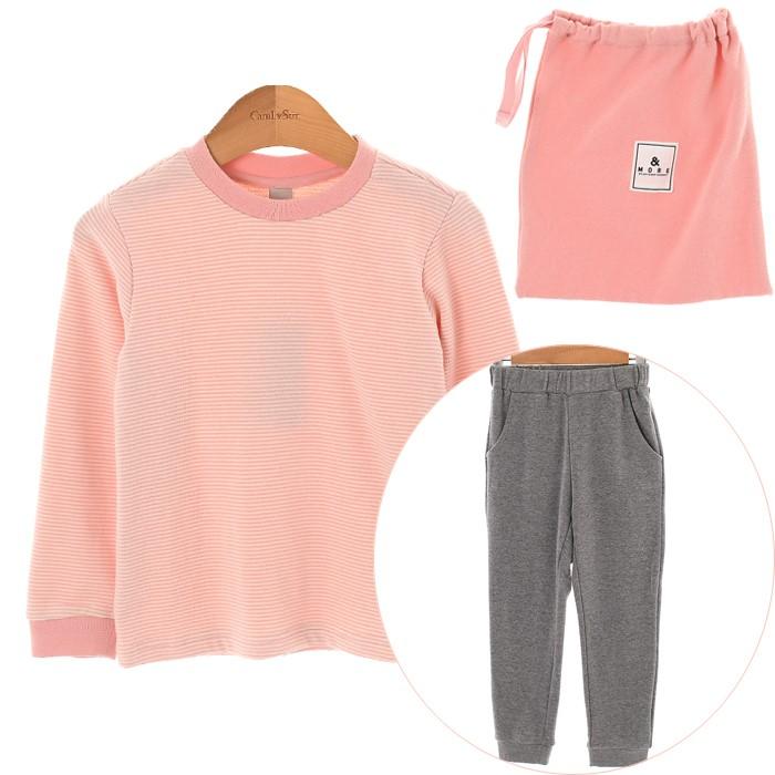 컬리수 NC02 핑크 스트라이프 라운지세트 COF1DAST01