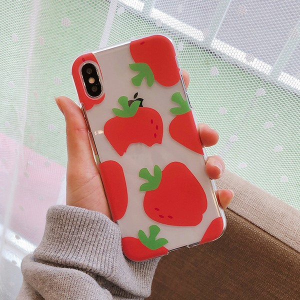 딸기 바이트 아이폰 케이스