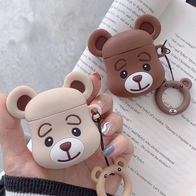 [마물샵] 귀여운 곰돌이 에어팟 케이스 특이한케이스 디자인케이스 스마트폰 에어팟