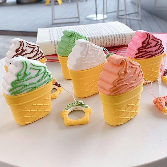 [마물샵] 달콤한 소프트 아이스크림콘 에어팟 케이스 특이한케이스 디자인케이스 스마트폰 에어팟