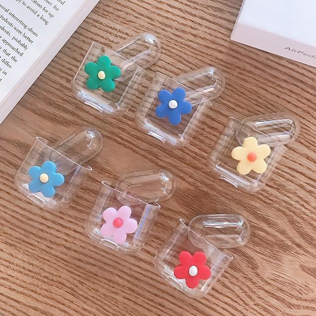 [마물샵] 입체 플라워 벚꽃 투명 에어팟 케이스 특이한케이스 디자인케이스 스마트폰 에어팟