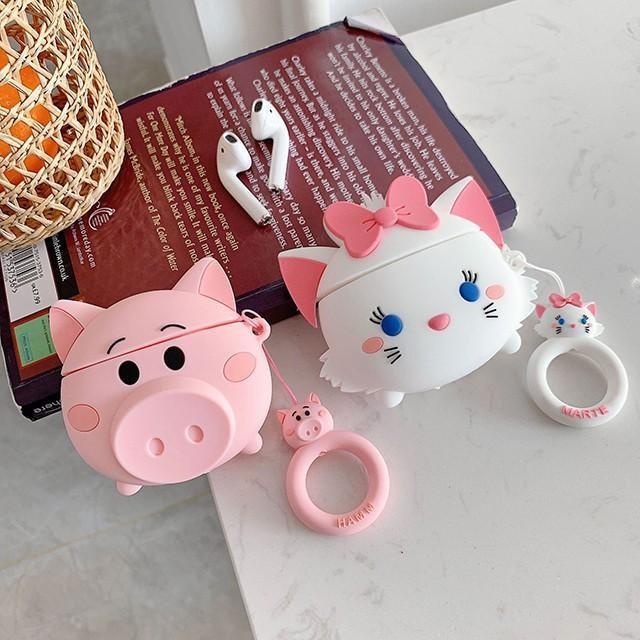 [마물샵] 귀여운 돼지 고양이 에어팟 케이스 특이한케이스 디자인케이스 스마트폰 에어팟