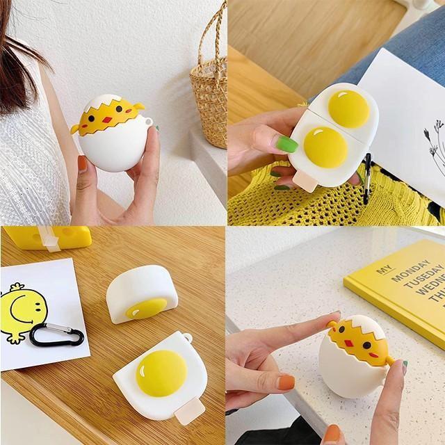 [마물샵] 귀여운 병아리 계란 후라이 에어팟 케이스 특이한케이스 디자인케이스 스마트폰 에어팟