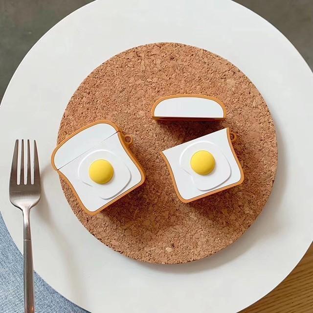 [마물샵] 식빵 계란빵 토스트 1세대 2세대 에어팟 케이스 특이한케이스 디자인케이스 스마트폰 에어팟