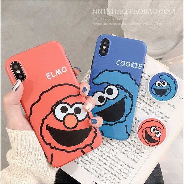 [마물샵] 귀여운 엘모 커플 그립톡 범퍼 아이폰 케이스 특이한케이스 디자인케이스 스마트폰 에어팟