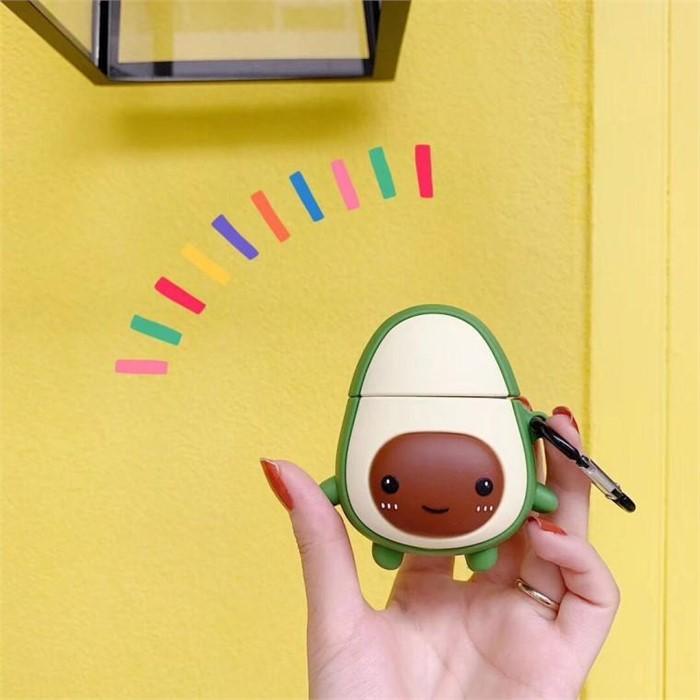 [마물샵] 귀여운 3D 아보카도 캐릭터 에어팟 케이스 특이한케이스 디자인케이스 스마트폰 에어팟