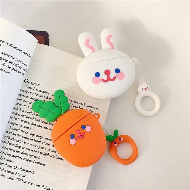[마물샵] 당근 토끼 에어팟 1세대 2세대 케이스 특이한케이스 디자인케이스 스마트폰 에어팟