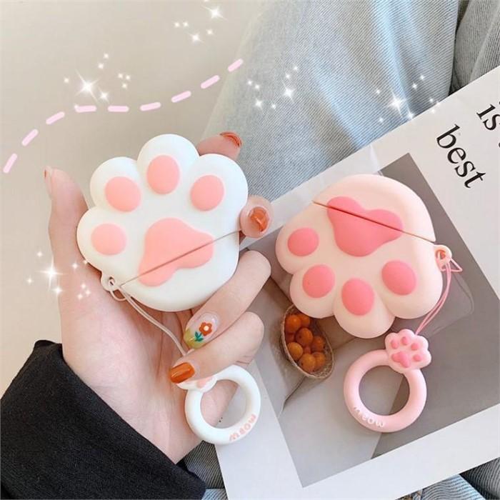 [마물샵] 실리콘 고양이 발바닥 1세대 2세대 에어팟 케이스 특이한케이스 디자인케이스 스마트폰 에어팟