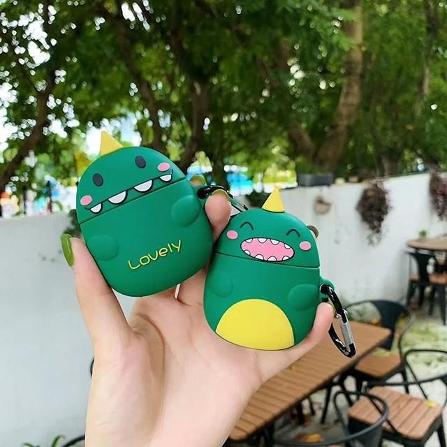 [마물샵] 스마일 공룡 에어팟 1세대 2세대 케이스 특이한케이스 디자인케이스 스마트폰 에어팟