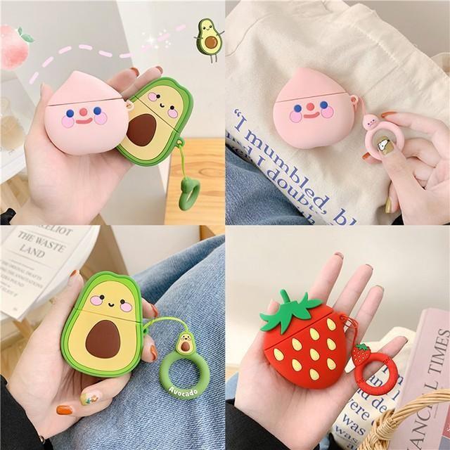 [마물샵] 에어팟 1세대 2세대 복숭아 딸기 아보카도 케이스 특이한케이스 디자인케이스 스마트폰 에어팟