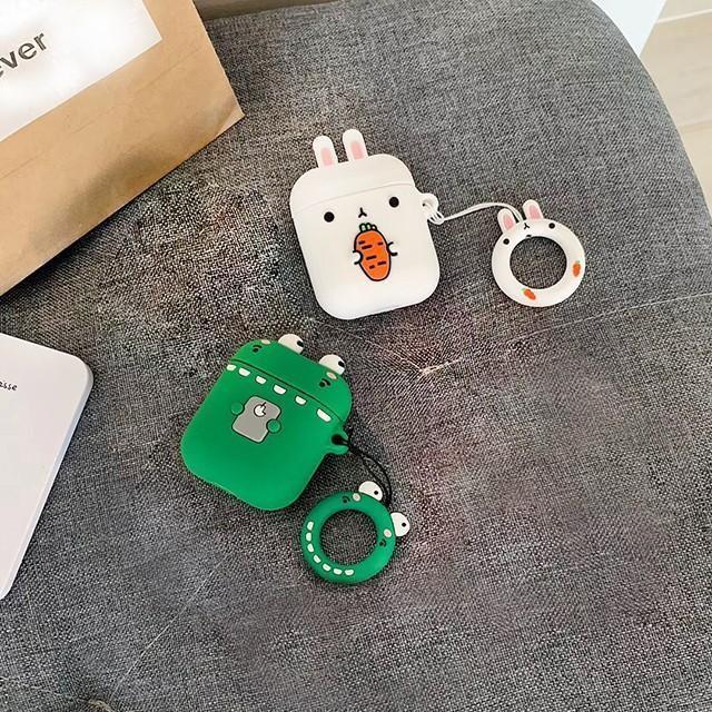 [마물샵] 동물 악어 토끼 에어팟 1세대 2세대 실리콘 케이스 특이한케이스 디자인케이스 스마트폰 에어팟