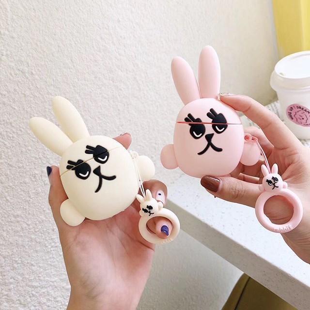 [마물샵] 특이한 토끼 에어팟 1세대 2세대 케이스 특이한케이스 디자인케이스 스마트폰 에어팟