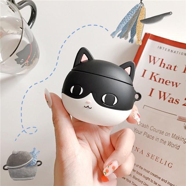 [마물샵] 검은 고양이 에어팟 1세대 2세대 케이스 특이한케이스 디자인케이스 스마트폰 에어팟