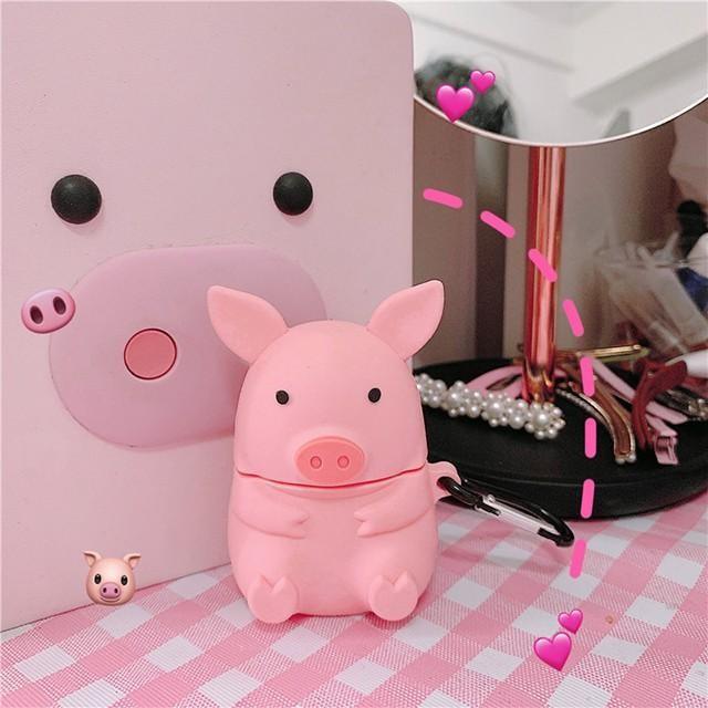 [마물샵] 실리콘 리얼 돼지 에어팟 케이스 특이한케이스 디자인케이스 스마트폰 에어팟