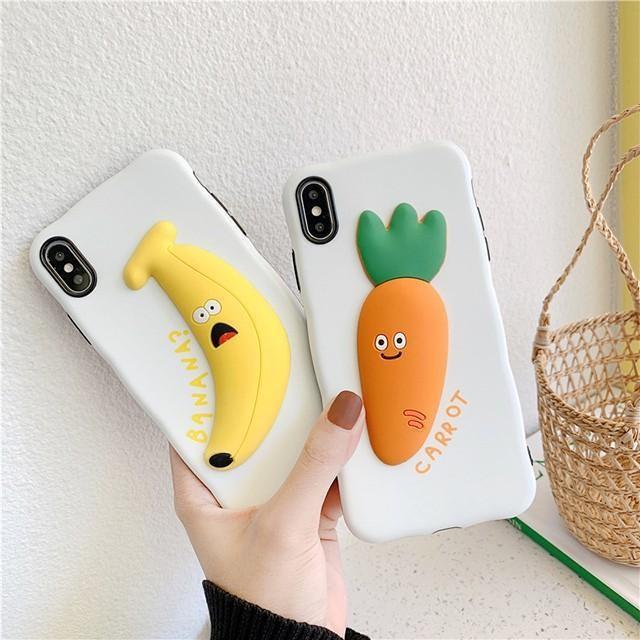 [마물샵] 3D 입체 귀여운 바나나 당근 아이폰 범퍼 케이스 특이한케이스 디자인케이스 스마트폰 에어팟