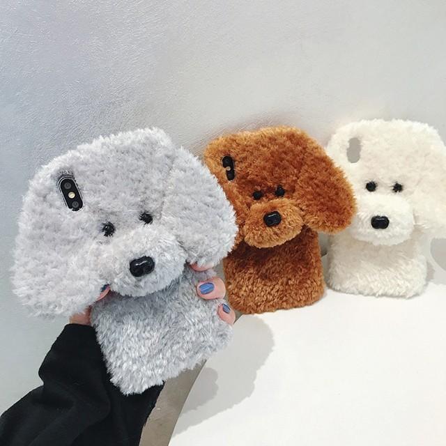 [마물샵] (신상) 겨울용 보들보들 푸들강아지 케이스 특이한케이스 디자인케이스 스마트폰 에어팟