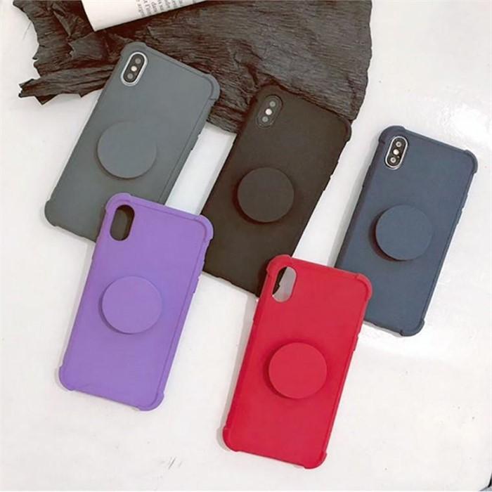 [마물샵] 단색 심플 슬림 그립톡 갤럭시 케이스 특이한케이스 디자인케이스 스마트폰 에어팟