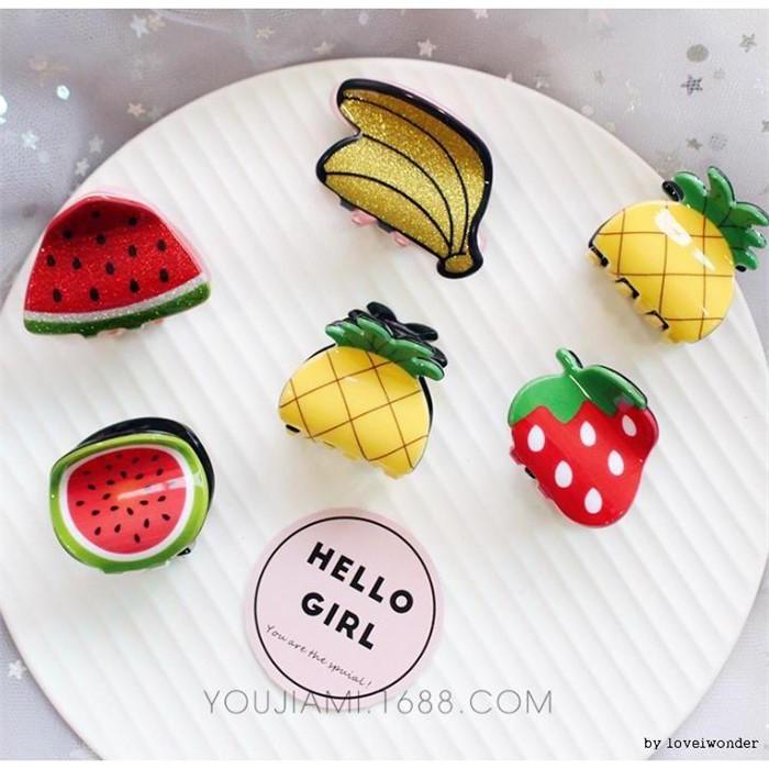 [마물샵] 과일모양 헤어집게핀 머리삔