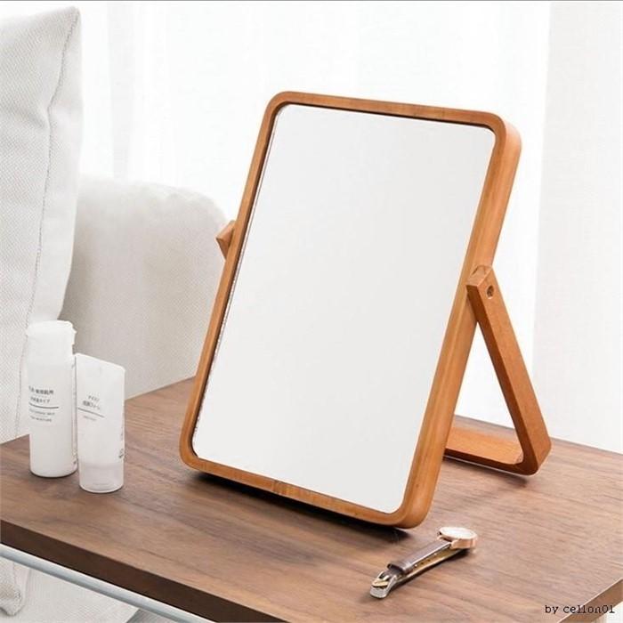 [마물샵] 우드 탁상 스탠드 화장 벽면 거울