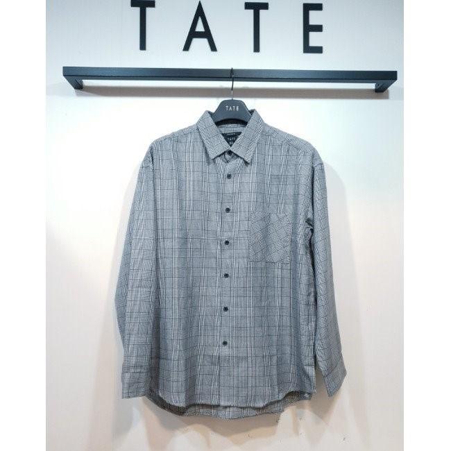 TATE NC02 세미오버핏 글렌체크 셔츠 KA9W0-MRC050