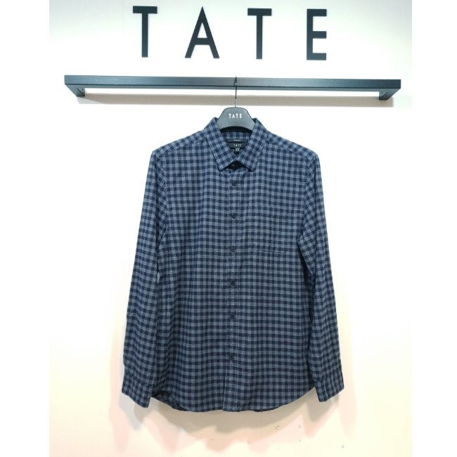 TATE NC02 남성 코튼 레귤러 체크 셔츠 KA9W0-MRC030