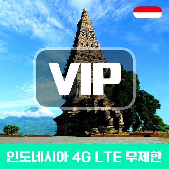 VIP 인도네시아 4G LTE 포켓 와이파이 매일 1GB 사용 후 저속 택배 수령