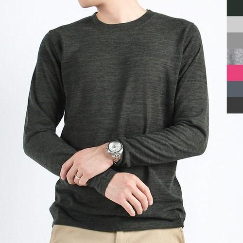 [브이마켓퀵스타트] 데일리룩 베이직 이너 남자 니트 티셔츠