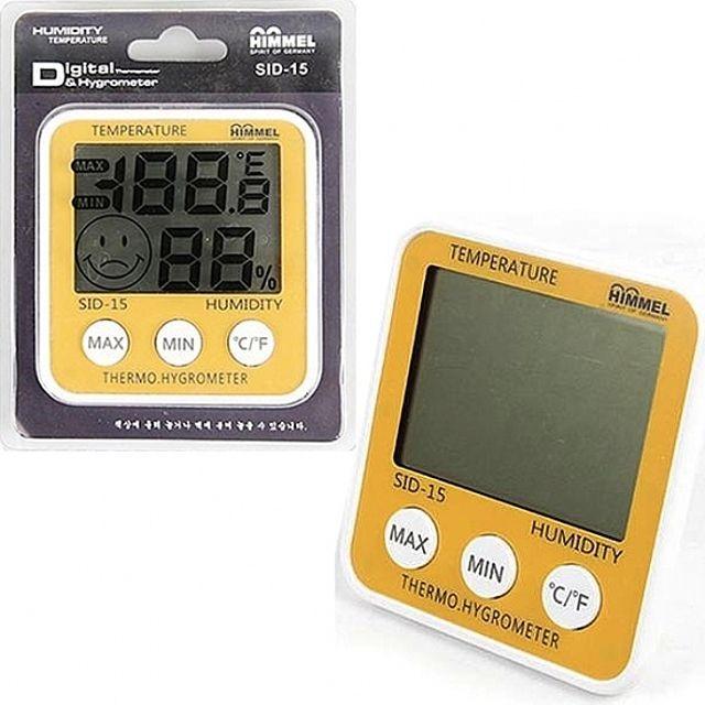 힘멜 디지털 온습도계 온도 습도 스마일 표시 섭...
